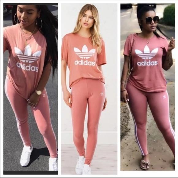 9d4a2ec085a adidas Pants | Originals Ash Pink Leggings | Poshmark